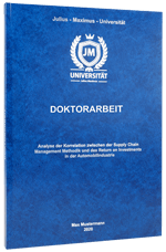 Doktorarbeit binden im Standard Hardcover