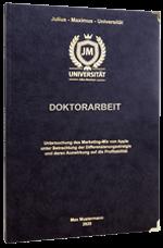Doktorarbeit drucken im Premium Hardcover