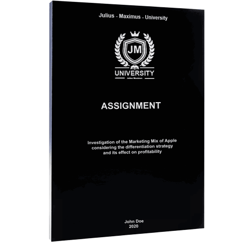 Assignment binding with softcover black