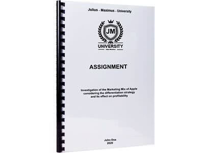 Assignment printing and binding with plastic spiral binding