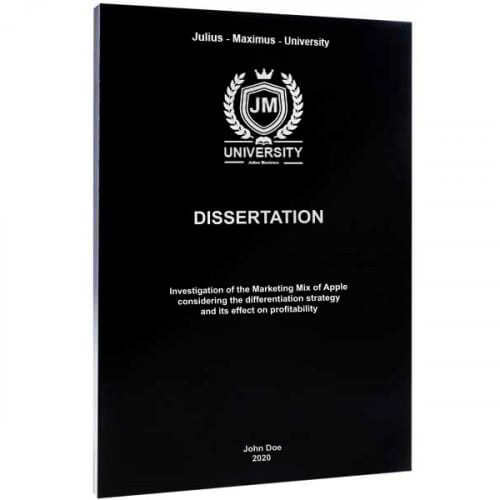 Dissertation binding with softcover black