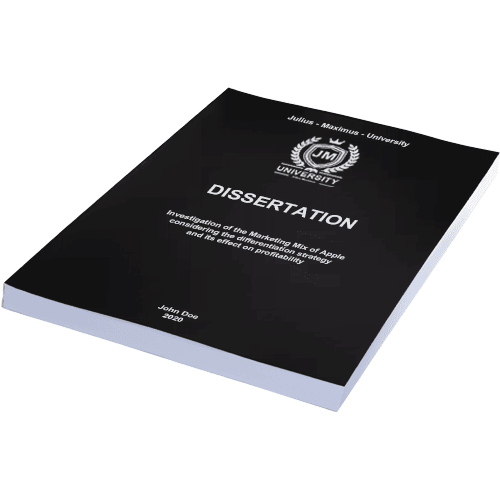 Dissertation binding with softcover black horizontal