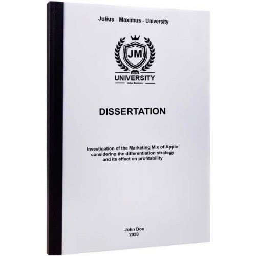 Dissertation binding with thermal binding
