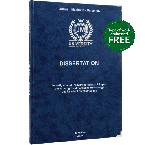 Dissertation printing and binding with premium leather binding