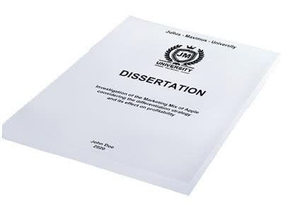 Dissertation printing in softcover white