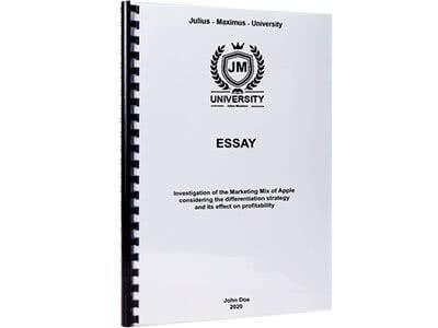 Essay binding with plastic spiral binding