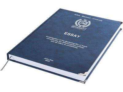 Essay printing and binding premium leather binding dark blue