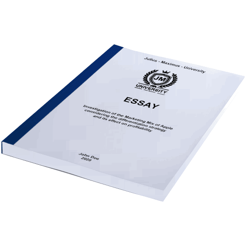 Essay printing with thermal binding blue horizontal