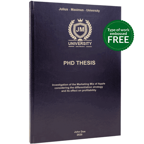 PHD binding in standard leather binding black