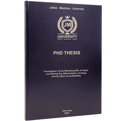 PHD binding in standard leather binding
