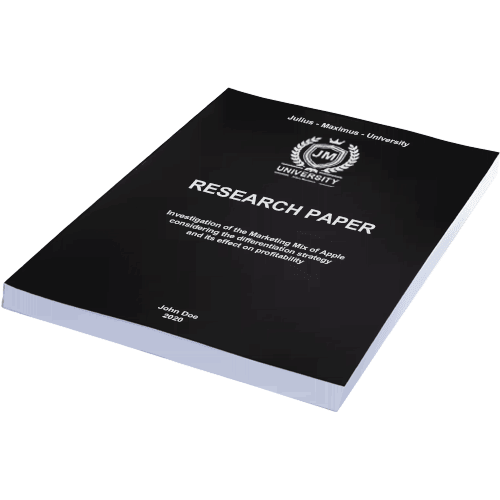 Paper binding with softcover black horizontal