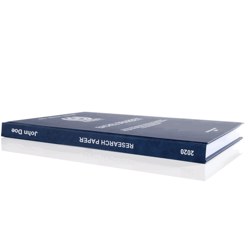 Paper printing and binding with premium binding spine