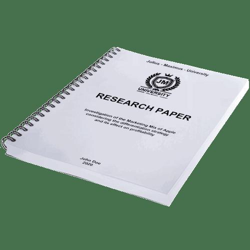 Paper printing binding with spiral binding horizontal