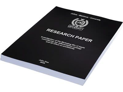 Paper printing in softcover black