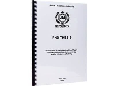 PhD binding with plastic spiral binding