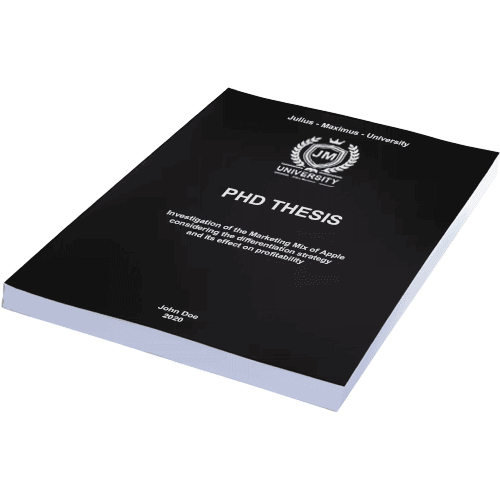 PhD binding with softcover black horizontal
