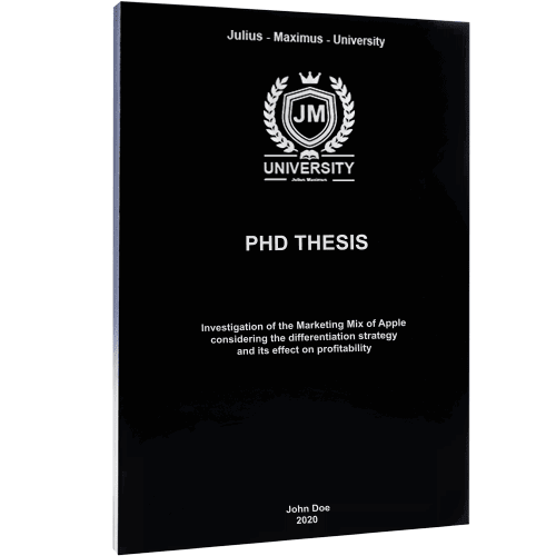 PhD binding with softcover black