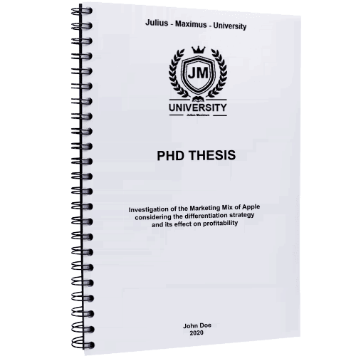 PhD printing and binding with metal spiral binding