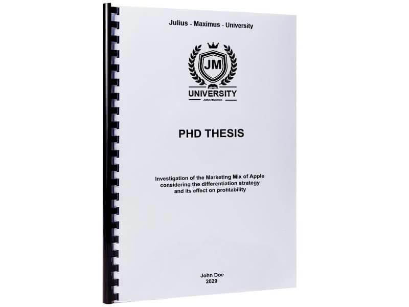 PhD printing and binding with plastic spiral binding
