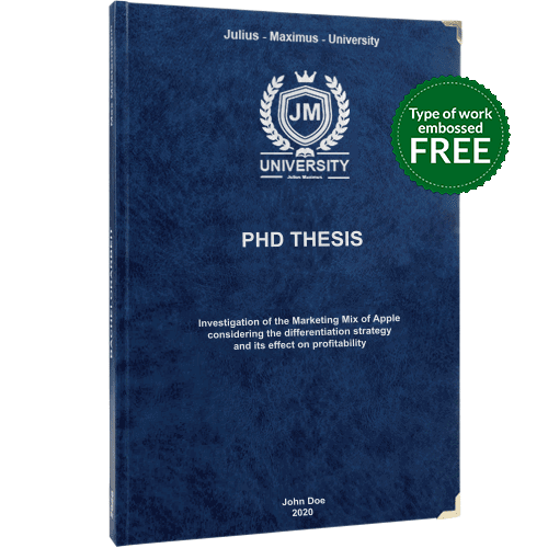 PhD printing and binding with premium leather binding