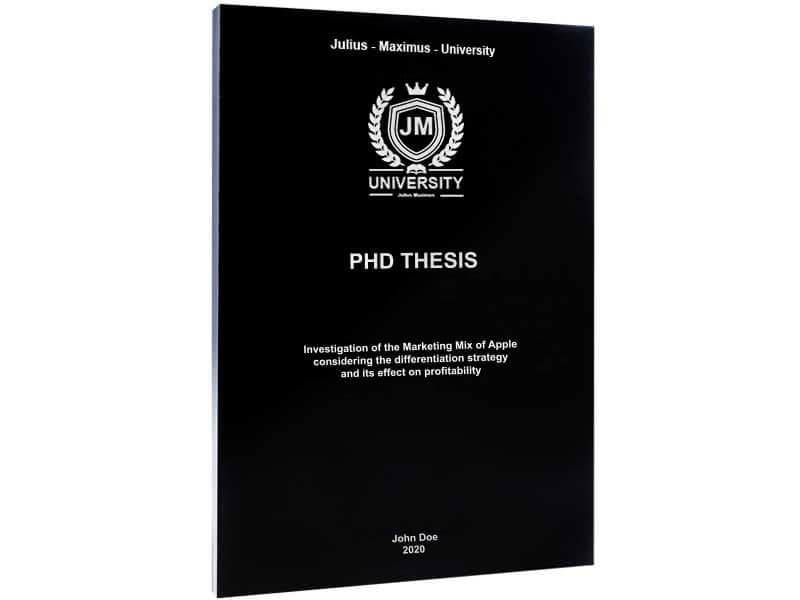 PhD printing with softcover black