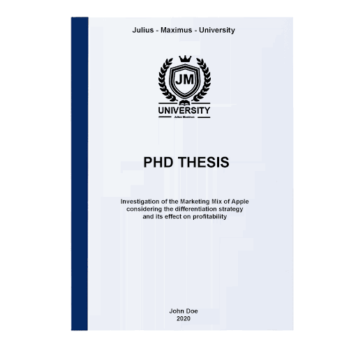 PhD printing with thermal binding front blue
