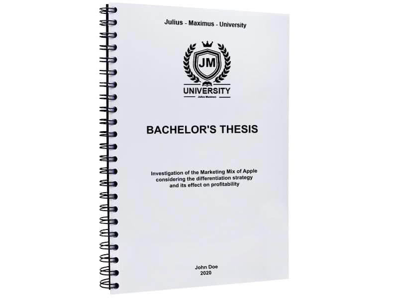 Thesis binding with metal spiral binding