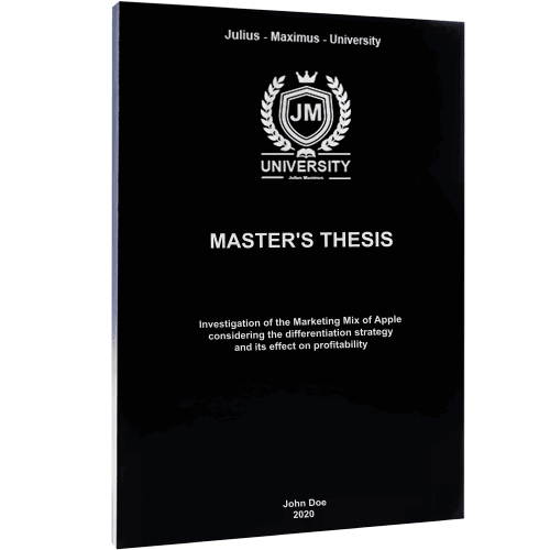 Thesis binding with softcover black