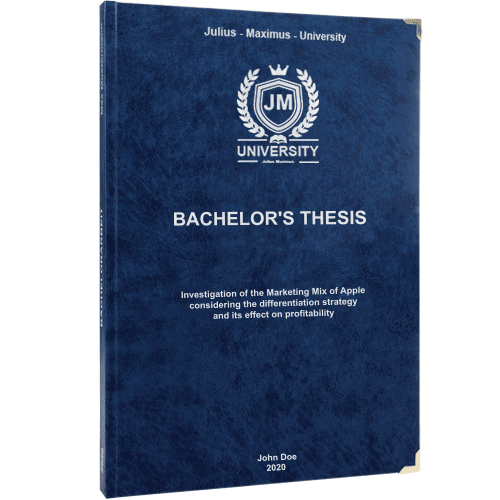 Thesis printing and binding with premium leather binding blue