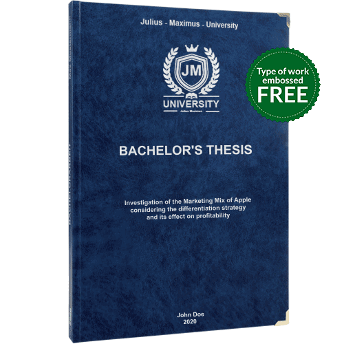 Thesis printing binding with premium leather binding