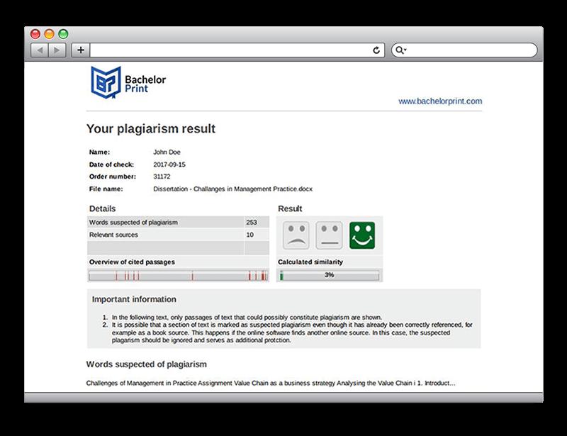 Plagiarism report plagiarism test tool