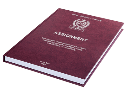 Assignment printing binding leather binding red silver