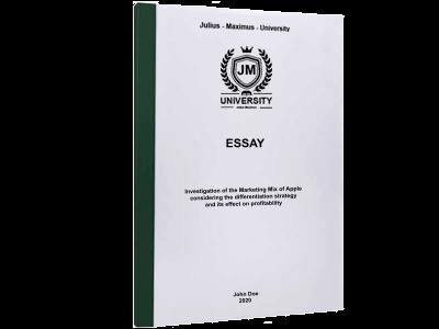 Essay printing thermal binding green