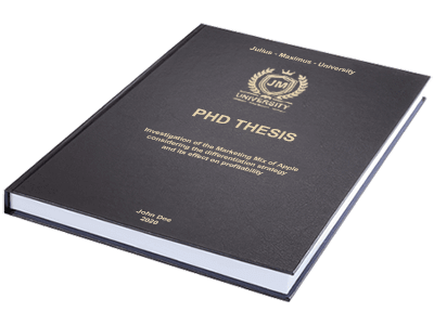 PHD Thesis printing binding leather binding black gold