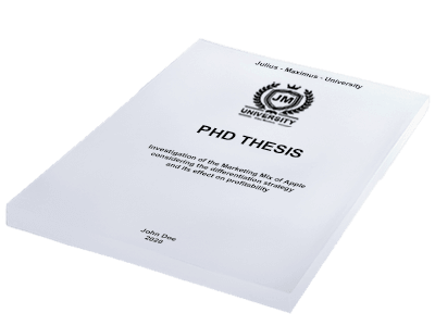 PHD Thesis printing binding softcover white