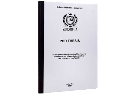 PHD Thesis printing thermal binding black