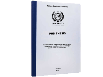 PHD Thesis printing thermal binding blue