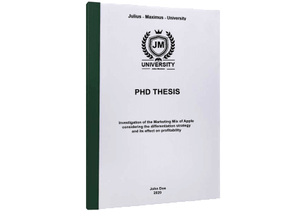PHD Thesis printing thermal binding green