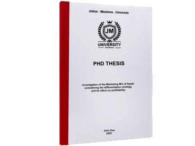 PHD Thesis printing thermal binding red