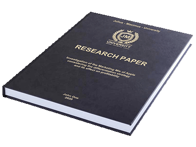 Research Paper leather binding black gold