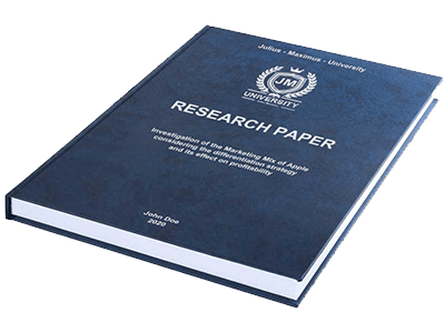 Research Paper leather binding blue silver