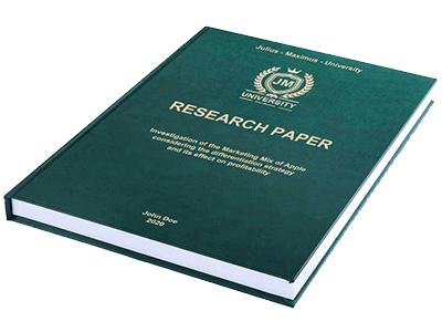 Research Paper leather binding green gold