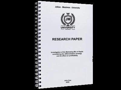 Research Paper spiral binding metal black