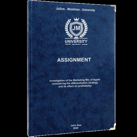 assignment printing binding leather binding premium blue