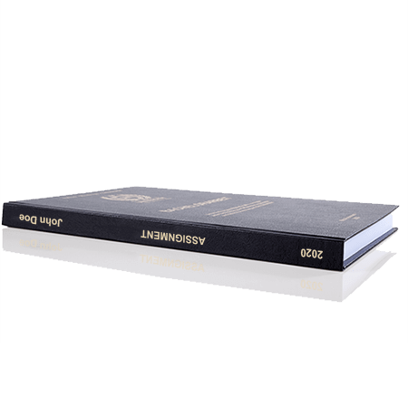 assignment printing binding leather binding standard spine