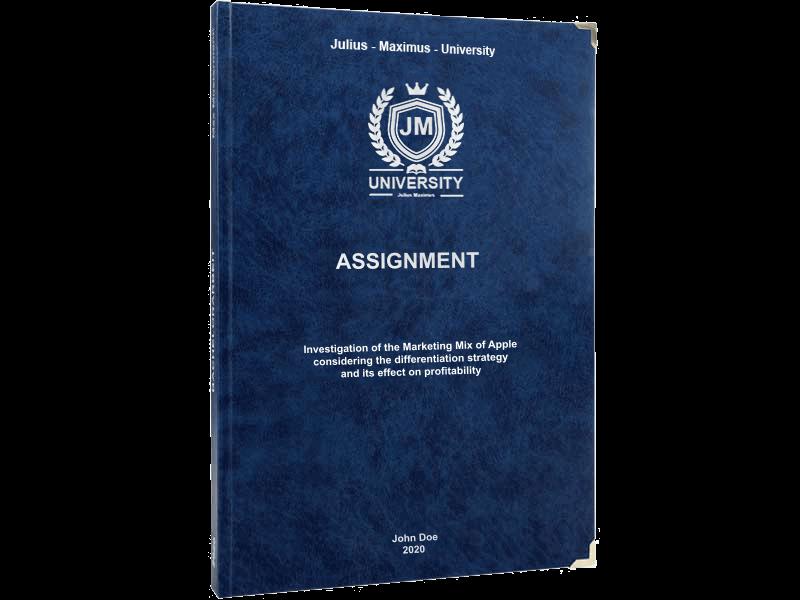 assignment printing black leather binding premium blue