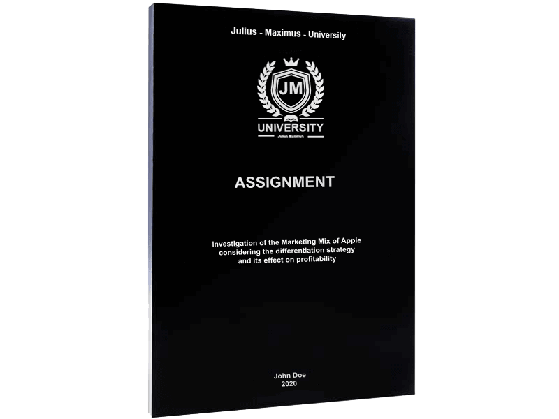 assignment printing softcover binding black