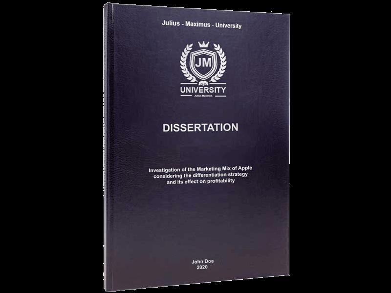 dissertation binding leather standard