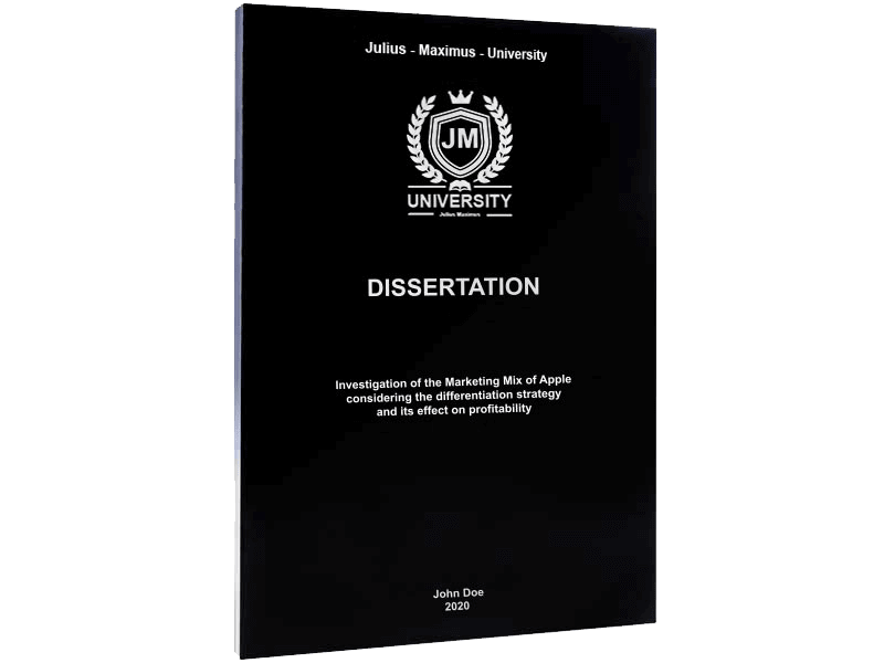 dissertation binding softcover black