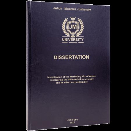 dissertation printing binding leather binding black